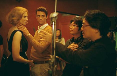 Park Chan Wook directing Nicole Kidman and Matthew Goode